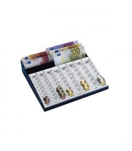 Plateau à monnaie € corps métal avec porte billet