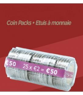 100 Étuis à monnaie - 2 € PET