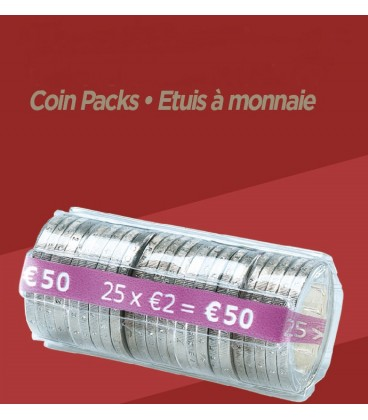 Rouleaux à monnaie pour 2.00 € X100