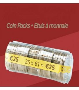 100 Étuis à monnaie - 1 € PET