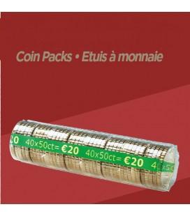 Rouleaux à monnaie pour 0.50 cts X100
