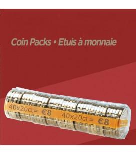 Rouleaux à monnaie pour 0.20 cts X100