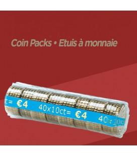 100 Étuis à monnaie - 0.10 € PET
