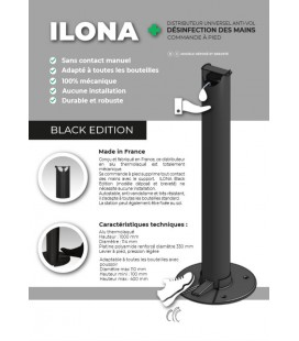 "Distributeur de Gel ""sans contact"" -Ilona black édition-"