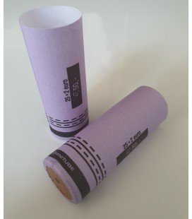 Tubes papier pour mise en rouleaux des pièces de 2 euros