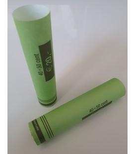 Tubes papier pour mise en rouleaux des pièces de 0.50 euros