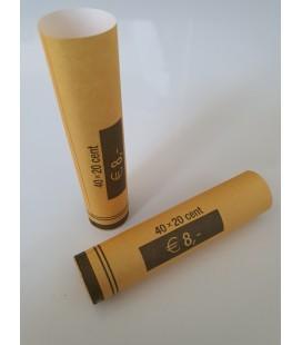 Tubes papier pour mise en rouleaux des pièces de 0.20 euros