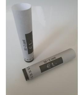Tubes papier pour mise en rouleaux des pièces de 0.02 euros