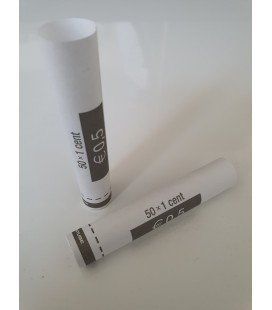 Tubes papier pour mise en rouleaux des pièces de 0.01 euros